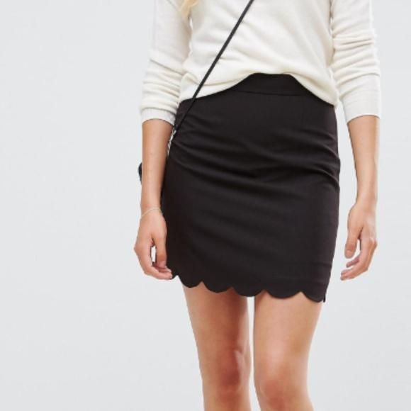 02c6f24840 ASOS Skirts   Tailored Aline Mini Skirt With Scallop Hem   Poshmark